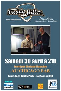 Affiche Freddy Miller au Chicago Bar
